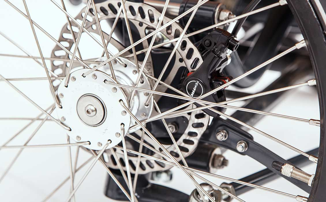 Cargo bike disc brakes