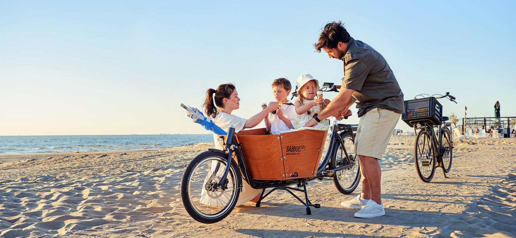 Rent a Babboe cargo bike on holiday