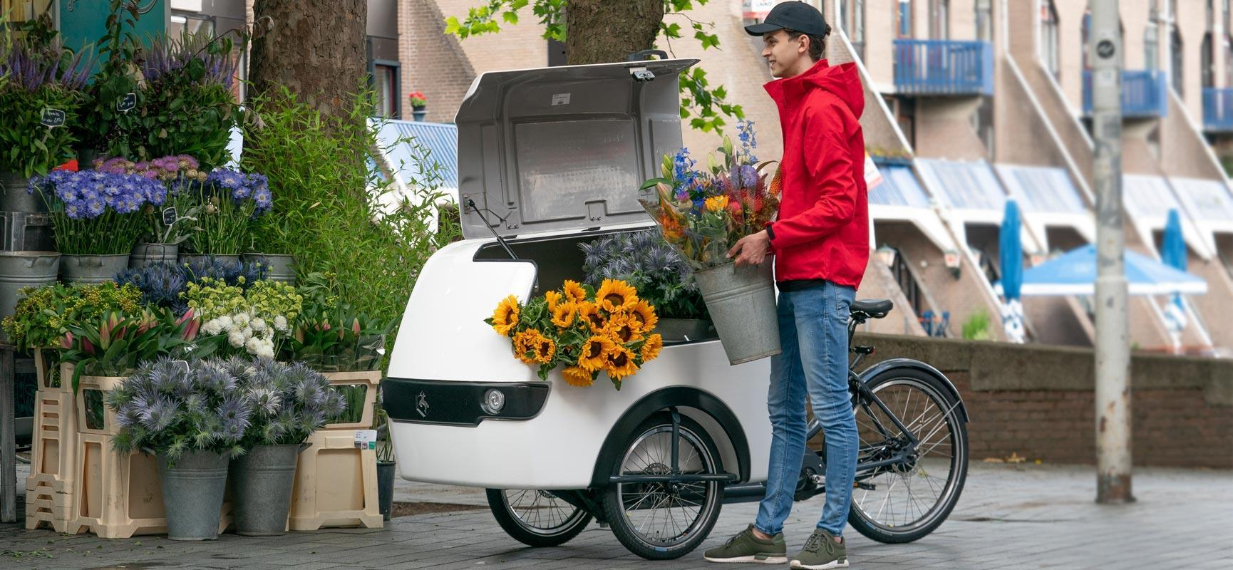 Last mile delivery with a delivery bike