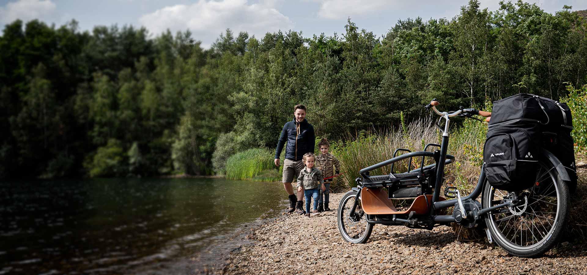 Babboe Slim longtail family bike
