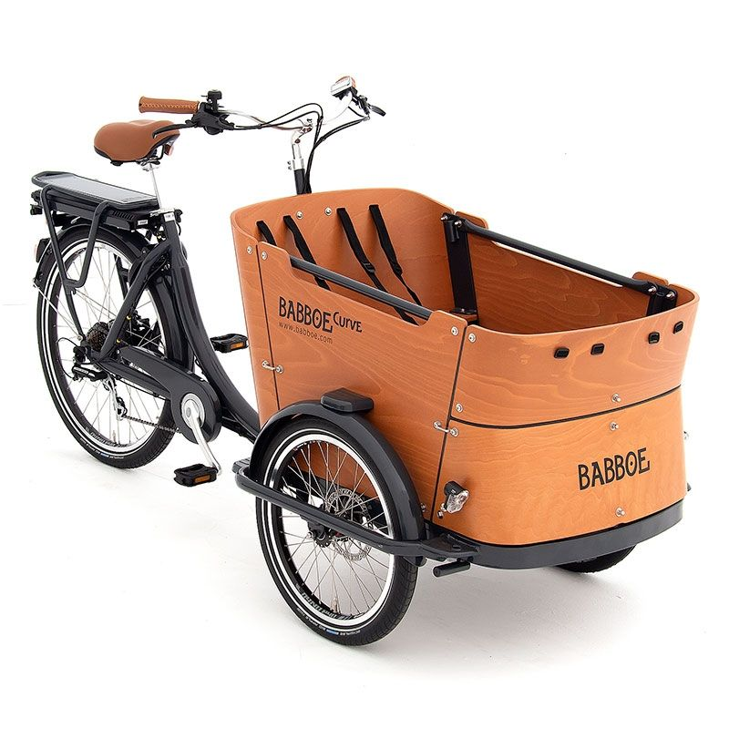 Contemporary electric three-wheel cargo bike
