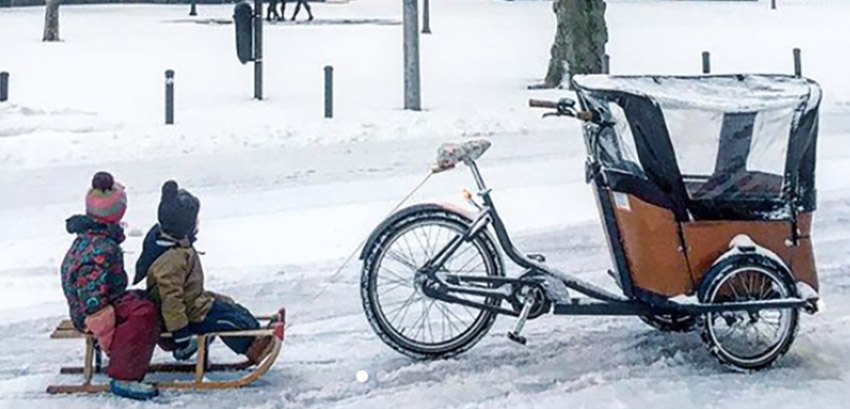 How to cycle with a cargo bike in the snow?